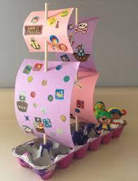egg carton pirate ship crafts for kids pinterest egg cartons