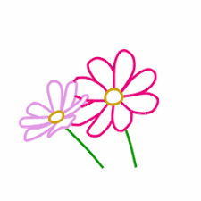 how to draw cartoon flowers