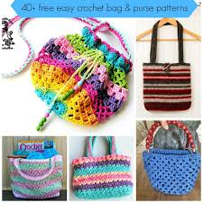 40 free easy crochet bag u0026 purse patterns