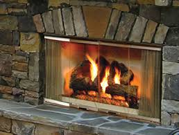 Outdoor Fireplace Insert - outdoor fireplaces wood electric and gas heatilator