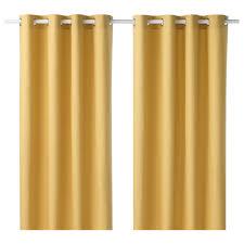 Yellow Curtain Mariam Curtains 1 Pair Ikea