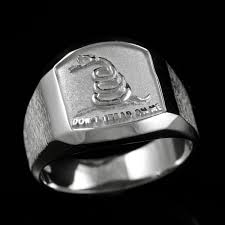 Gadson Flag Gadsden Flag Closed Back Ring Don U0027t Tread On Me Ring Rings Of