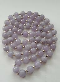 vintage beads necklace images Lavender jadeite and 14k gold vintage beads necklace collectors jpg