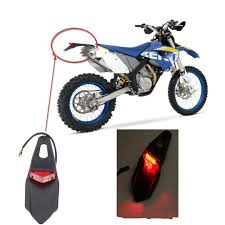 bicycle rear fender light motorcycle bike rear fender taillight of the leds stop for enduro