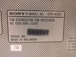 sony str k502 fm stereo fm am receiver ebay