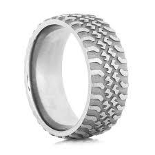 tire wedding ring s titanium tire tread wedding ring titanium buzz