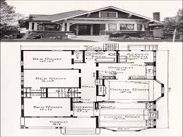 vintage california bungalow house plans homeca