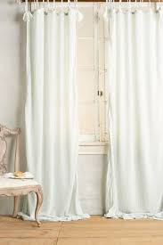 Curtains With Ties Cotton Tie Top Curtain Anthropologie