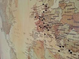 Personalised World Map Pinboard by Personalised Classic World Map By Maps International Within World