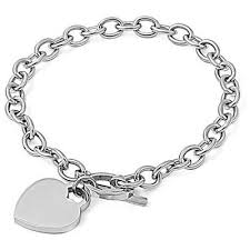 bracelet with heart charm images Personalized quality heart charm bracelet christmas gifts jpg