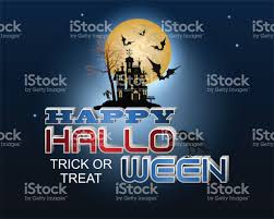 Halloween Holiday In Usa Background With Haunted House For Halloween Holiday Stock Vector