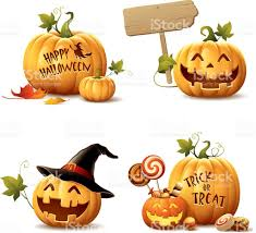 happy halloween free clip art happy halloween pumpkin set stock vector art 485492798 istock