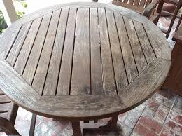Teak Outdoor Table Refinishing Teak Outdoor Furniture Wilson Painting