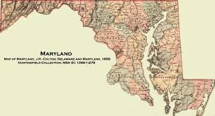 map of maryland with cities of maryland j h colton delaware and maryland 1855