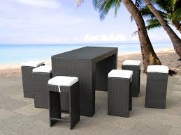 Patio Bar Furniture Sets - poly rattan bar wicker outdoor furniture table 6 stools and