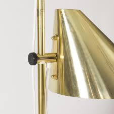 double shade brass floor lamp by hans agne jakobsson 1960s for