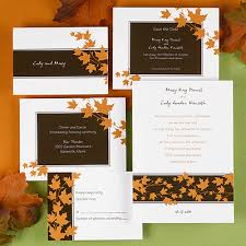 fall wedding invitations autumn theme for wedding archives yvonne s invitations and favors