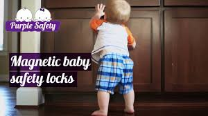 purple safety magnetic baby safety locks for cabinets u0026 drawers