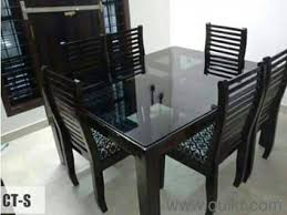 Used Dining Tables Online In Trivandrum Home Office Furniture - Glass top dining table hyderabad