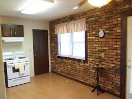 Modern Brick Wall by Interior Fake Brick Wallpaper Design For Kitchen Wall Plus White