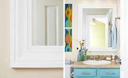 diy bathroom mirror shelf
