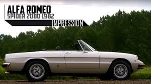 classic alfa romeo spider alfa romeo spider 2000 1982 modest test drive engine sound