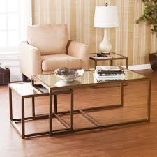 modern coffee and end tables amazon com southern enterprises nested cocktail and end table set