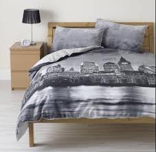 New York Bed Set New York City Duvet Covers Skyline Cover 100cotton 3pcs Single