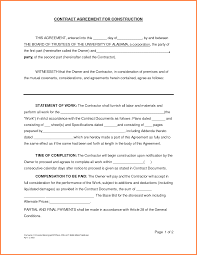 contractor agreement sample sales report template