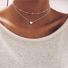 brand gold necklace images Rscvonm brand stella double horn pendant heart necklace gold dot jpg