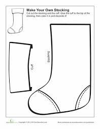 make your own christmas stocking christmas stockings worksheets