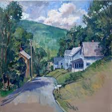 oil painting landscape toward vermont summer large oil on canvas plein air