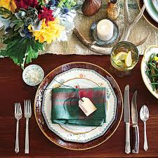warm rustic thanksgiving table setting southern living