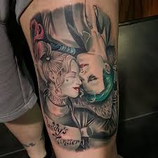joker harley tattoo rad finger tattoos featuring harley quinn