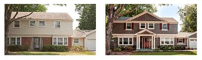 Exterior Paint For Aluminum Siding - before and after designed exterior remodel vinyl siding