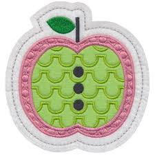 apple 2 ornament applique