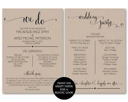 ceremony program template wedding program template wedding program printable we do