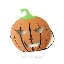 pumpkin mask felt fabric pumpkin mask for men women for party costume
