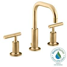copper bathroom faucet kohler forte 8 in widespread 2 handle low arc bathroom faucet in