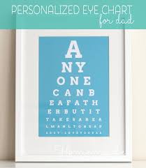 fathers day personalized gifts personalized fathers day gift eye chart