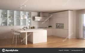 cuisine blanche parquet cuisine blanche minime classique avec sol en parquet interio