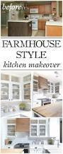 farmhouse style farmhouse style kitchen makeover reveal little red brick house