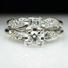 antique diamond engagement rings vintag art deco diamond engagement ring u0026 wedding band bridal set