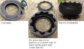 como hacer macetas con llantas recicladas paso a paso a mi manera maceta hecha de un neumático grande