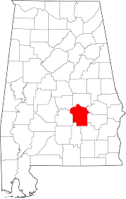 Alabama State Map File Map Of Alabama Highlighting Montgomery County Svg Wikimedia