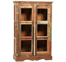 reclaimed wood curio cabinet reclaimed wood curio cabinet small curio cabinets with glass doors