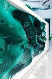 Glass Reception Desk Glass Layers Make Up This Wavy Reception Desk By Tamás ábel