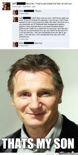 Liam Neeson Memes - liam neeson is proud by snajath meme center