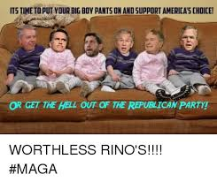 Pants Party Meme - its time to put your big boy pants on and support america s choice