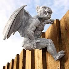 fence hanging gargoyle garden ornament statue brand new
